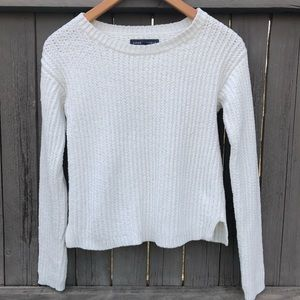 Aeropostale White Knit Soft Sweater Small